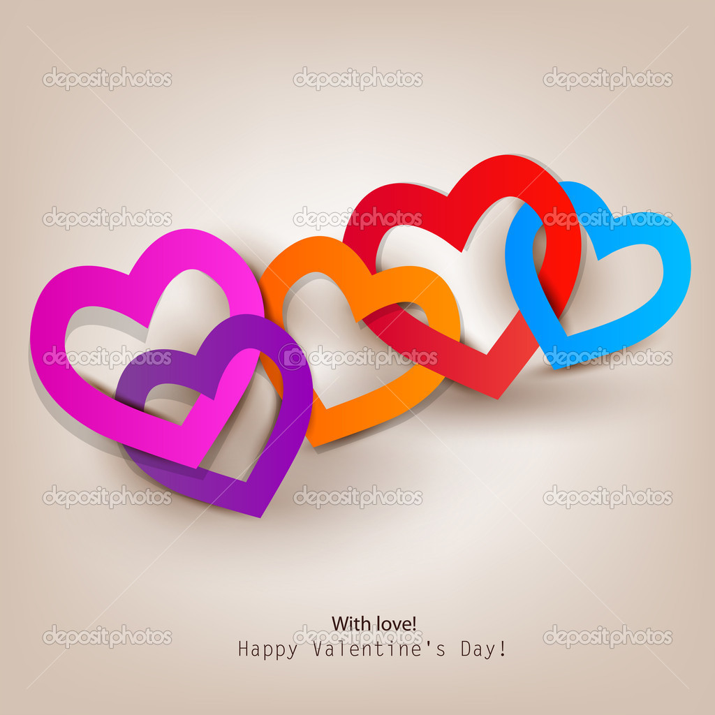Gift card. Valentine's Day. Vector background — Stock Vector #8527675