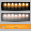 Empty placard for product advertising with lighting — Stock Vector