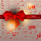 Gift card. Valentine's Day. Vector background — Stock Vector
