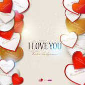 Elegant background with vector hearts. Valentine's Day — Vettoriale Stock