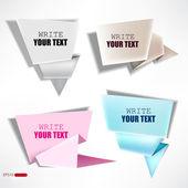 Vector conjunto de burbujas de papel. — Vector de stock
