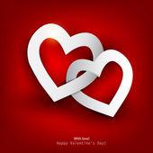 Tarjeta de regalo. día de san valentín. fondo de vector — Vector de stock