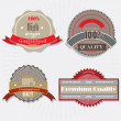 Set of Superior Quality and Satisfaction Guarantee Badges, Label — Image vectorielle