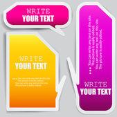 彩色的纸泡沫为讲话的 — 图库矢量图片