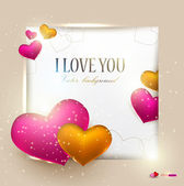 Beautiful background with hearts and place for text. Valentine's — Stock Vector