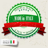 "Set of Badges, Labels, Tags ""Made in Italy"". Vector illustration — Stock Vector"