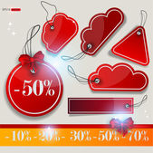 Conjunto de burbujas, adhesivos, etiquetas, etiquetas. ilustración vectorial — Vector de stock