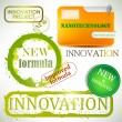 Tags and stamps &quot;Innovation&quot; - Stock Vector