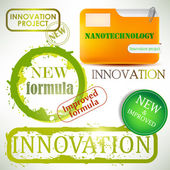 "Tags and stamps ""Innovation"" — Stock Vector"