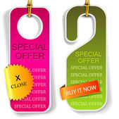 "Vector labels and bookmarks ""Special Offer"" — Stock Vector"