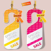 "Door tags, labels ""Special offer"". Vector — Stock Vector"