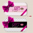 Collection of gift cards with ribbons. Vector background — Stock Vector #9859700