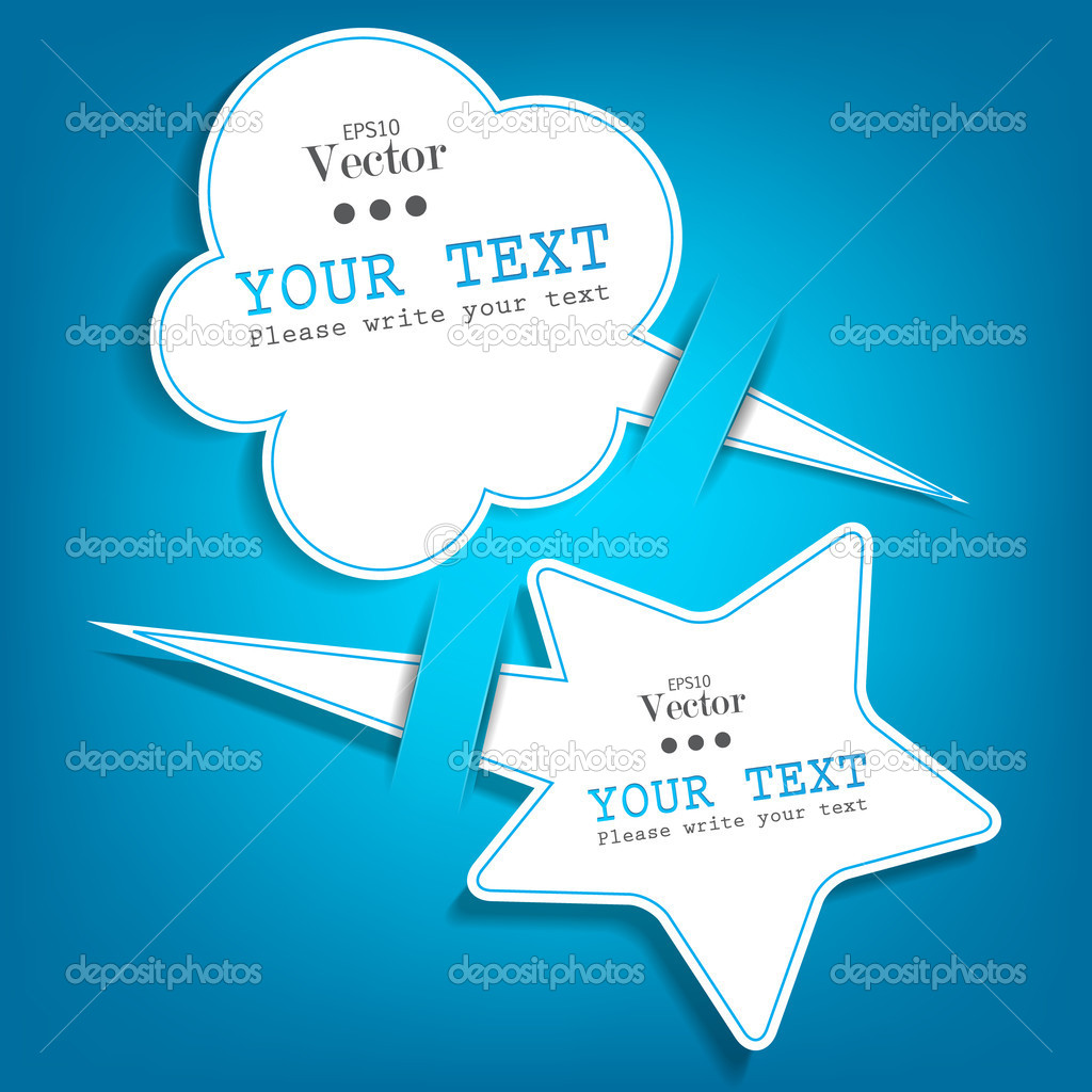 Paper speech bubble — Stock Vector #9859698