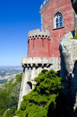 Tower of Pena Palace in Sintra. MUSEUM. Portugal. — Stock Photo
