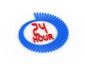 Support via de zeven dagen per week 24 uur. — Stockfoto
