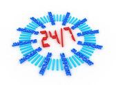 Apoyo siete días a la semana 24 horas. — Foto de Stock