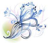 Mehrere dekorative blühende Zweige — Stockvektor