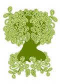 Грин, абстрактное дерево — Cтоковый вектор