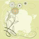 Wild flowers — Stock Vector
