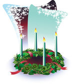 Advent wreath — Stock Vector