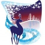 Decorative winter background — Stock Vector