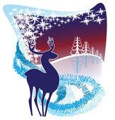 装飾的な冬の背景 — ストックベクタ