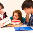 Bored students — Stock Photo