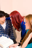 Student flirt — Stock Photo