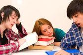 Nemotivovaný studenti — Stock fotografie