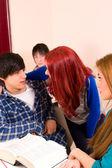 Klassrummet flirt — Stockfoto