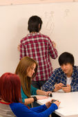 Distracted students — Stock Photo