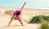 Beach workout — Stock Photo