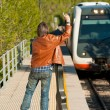 Stopping train — Stock Photo #7989930