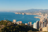 Benidorm seen from Sierra Helada — Stock Photo