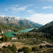 Guadalest valley winter scene — Stock Photo