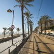 Stock Photo: Beach tram track