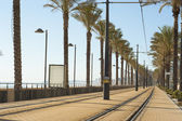 Alicante tram track — Stock Photo