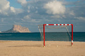 Beach soccer goal — Stock Photo