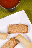 Crunchy Chinese appetizers — Stock Photo