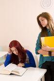 Classmates but rivals — Stock Photo