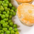 Stock Photo: Pies and peas