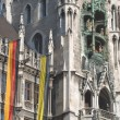 Munich Town Hall with Flags — Stock Photo