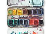 水彩トレイ — ストック写真