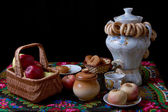 Russian traditional tea ceremony — Stockfoto