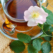 Tea with dog-rose blossom — Lizenzfreies Foto