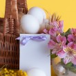 Happy Easter greeting card — Stok fotoğraf