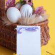 Happy Easter greeting card — Foto Stock