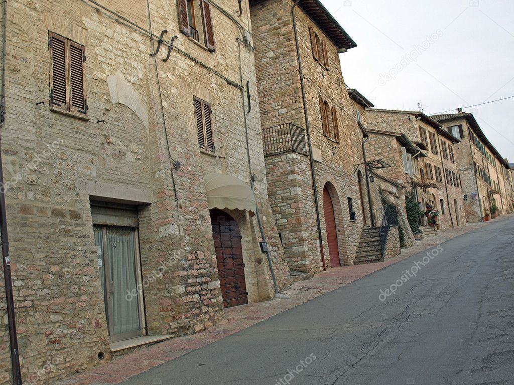 Streets of Assisi in Italy — Stok fotoğraf #8965346