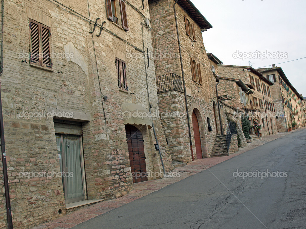 Streets of Assisi in Italy — Stockfoto #8965346