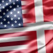 USA and Denmark - Foto Stock